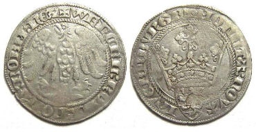 Luxembourg. Wenceslas II, AD 1383 to 1388. Silver Gros an Gene.