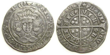 English, Henry VI, AD 1422 to 1461. Silver groat.