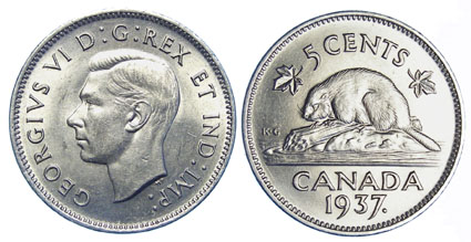 Canadian coins | five cent | nickel | Calgary coin | buy & sell