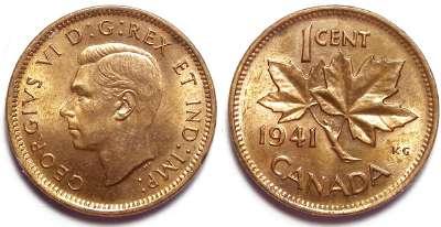 Canada 1937 1 Cent