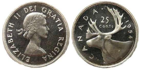 Canadian Quarters (25 cent coins) for sale by Calgary Coin
