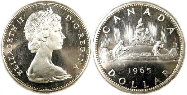 Canadian Dollar And Two Coins For Calgary Coin
